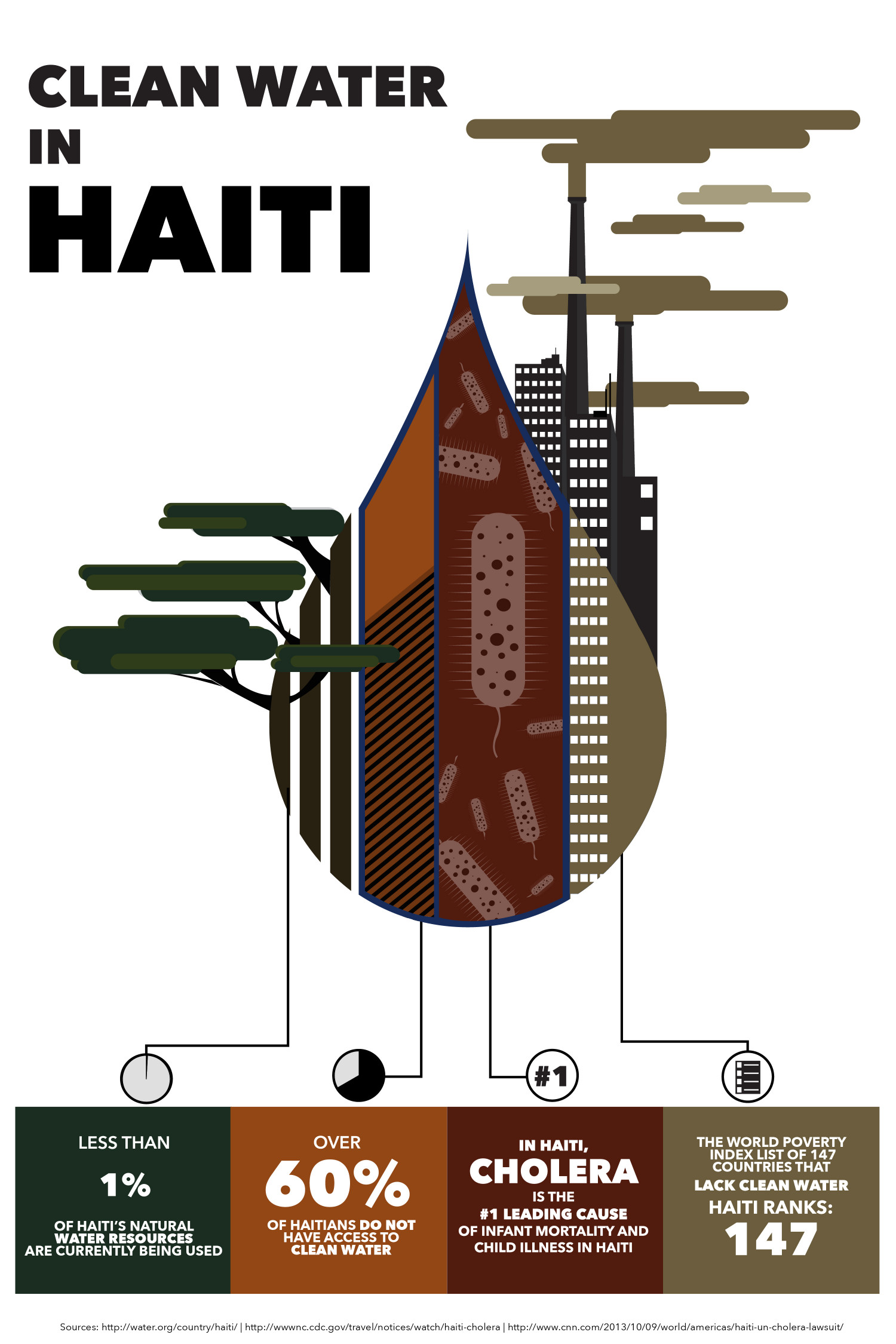 Clean Water in Haiti  Infographic