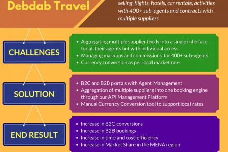 Client Case Study Debdab Travel Infographic