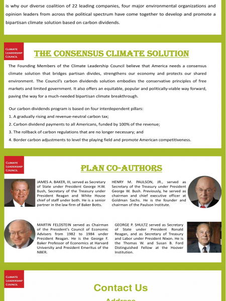 Climate Leadership Council Infographic
