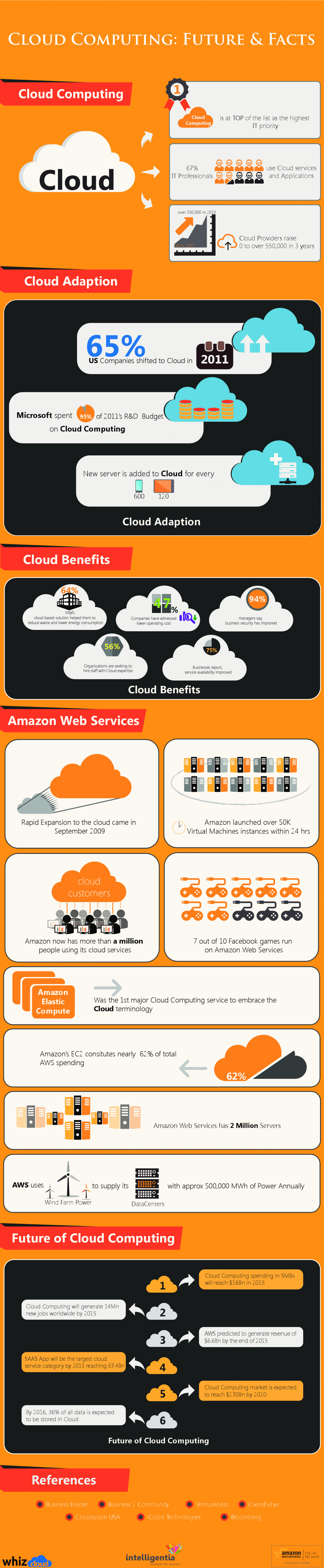 Cloud Computing Future And Facts Infographic