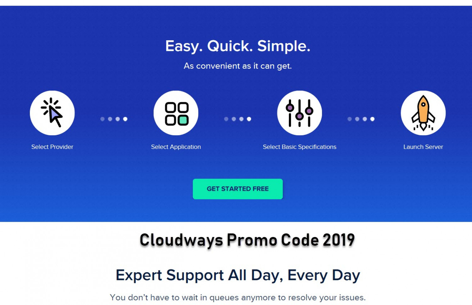Cloudways Hosting Features (Including Promo Code) Infographic