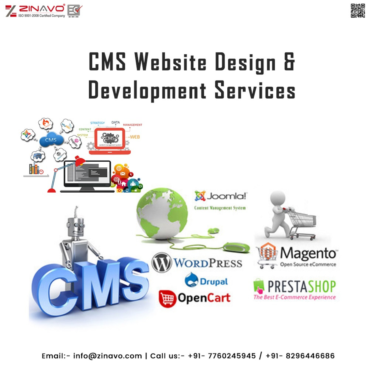 CMS Website Design & Development Services Infographic