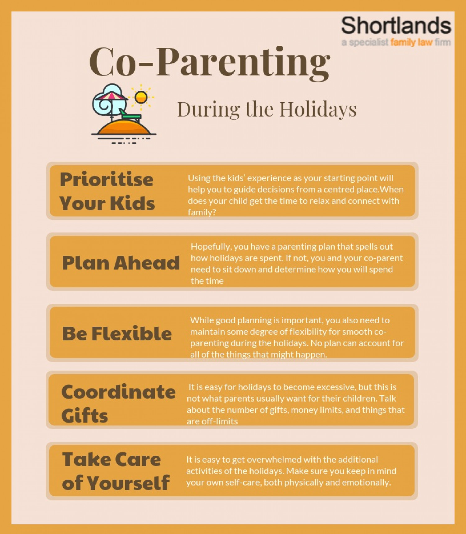 Co parenting during the holidays  Infographic