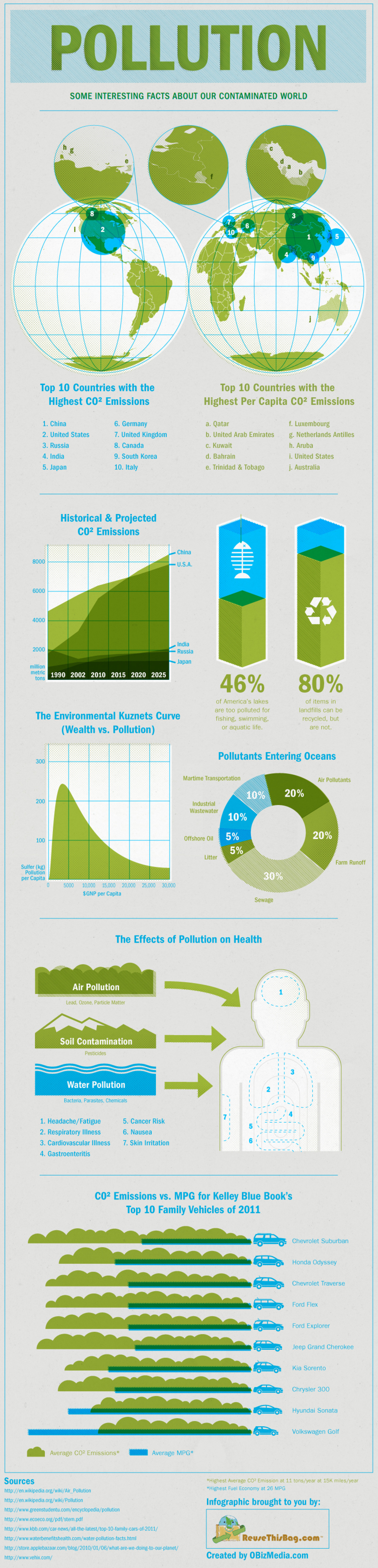 CO2 Emissions & Pollution Infographic