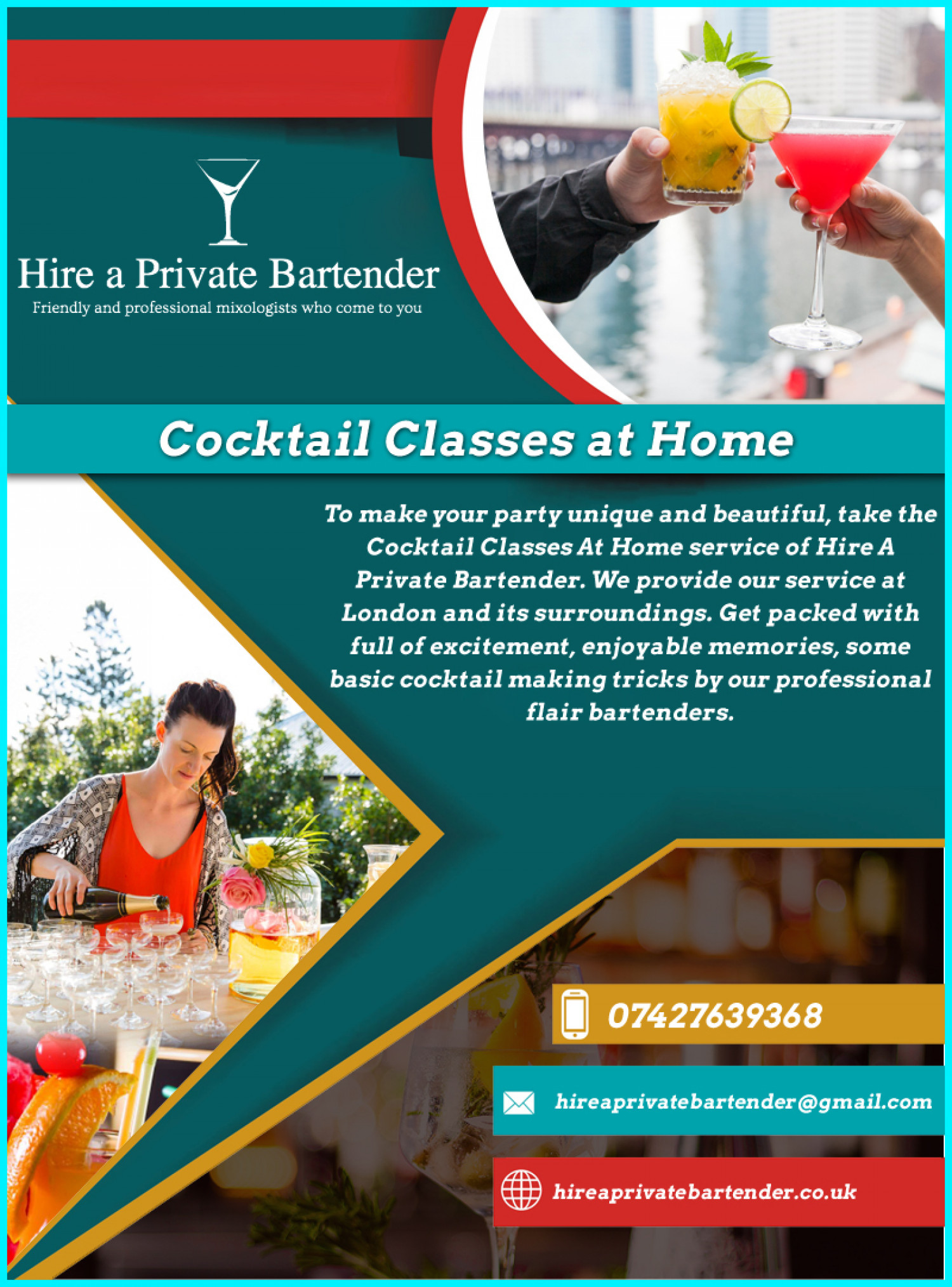 Cocktail Classes at Home- Best Service Ever Infographic