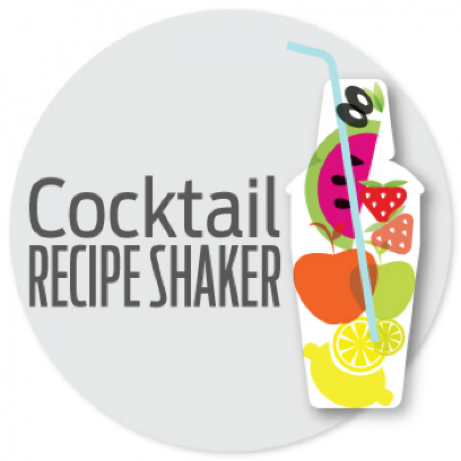 Cocktail Recipe Shaker - Mixed Drink Idea Generator Infographic