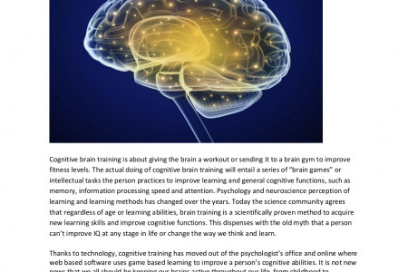Cognitive brain training Infographic