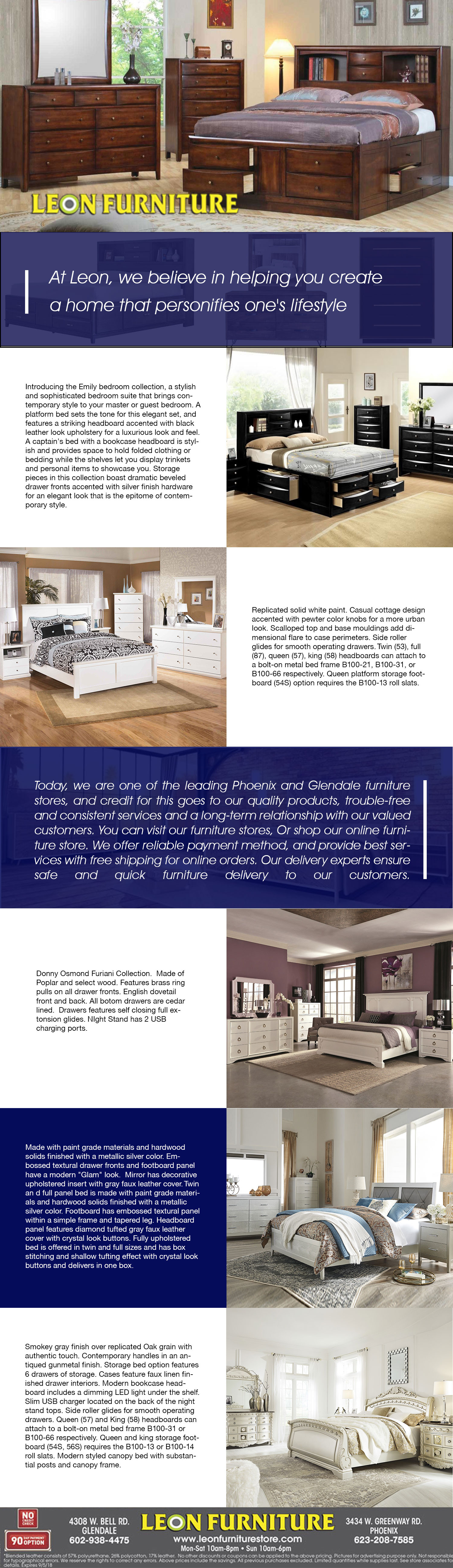Collection Of Best Bedroom Furniture Sets in Arizona Infographic