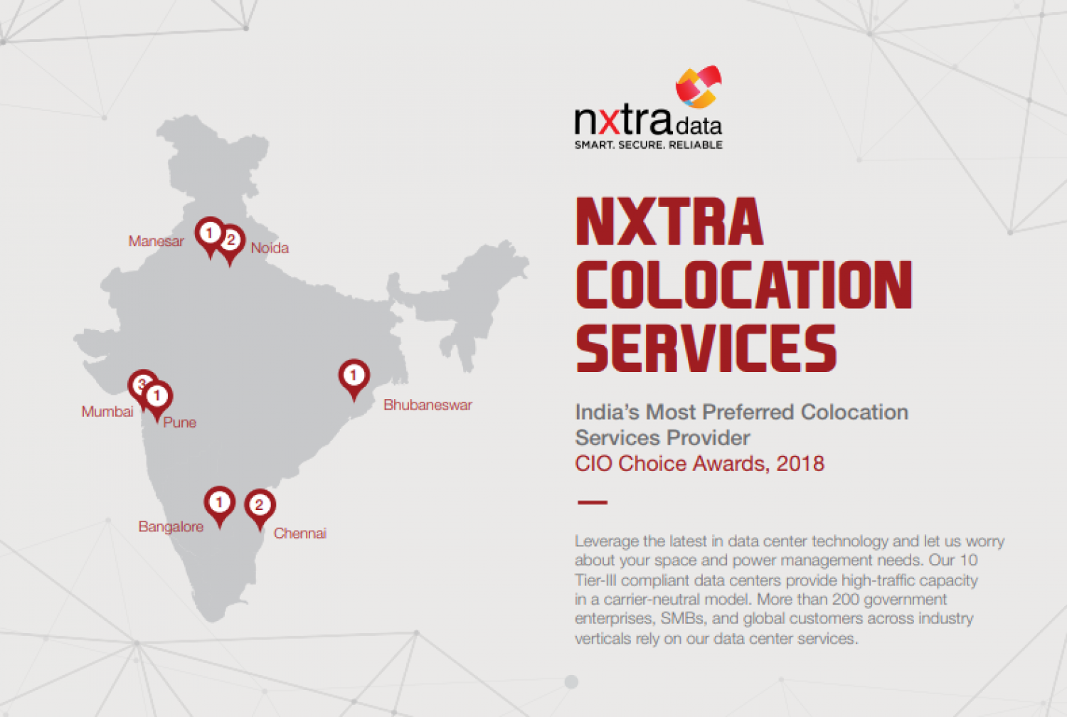 Colocation Data Center Service Providers in India Infographic