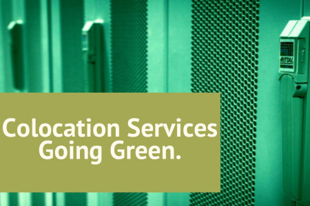 Colocation Services Going Green. Infographic