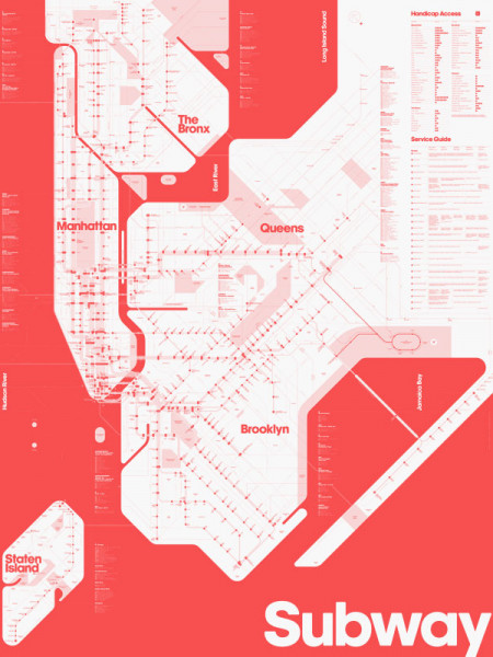 Color Blind Subway Map Infographic