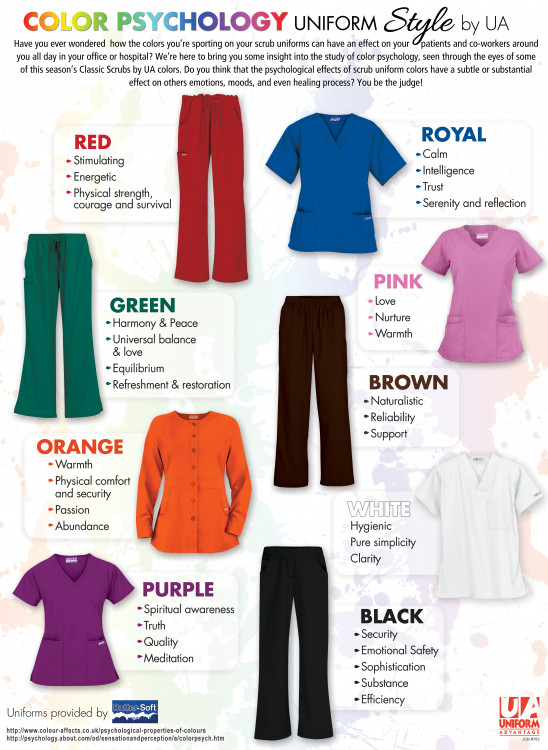 cdfdb5c8be6 Color Therapy for your Medical Scrubs Wardrobe by Uniform Advantage |  Visual.ly