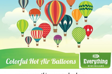 Colorful Hot Air Balloons Infographic