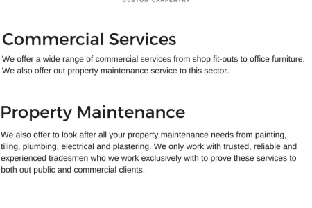 Commercial and property services Infographic