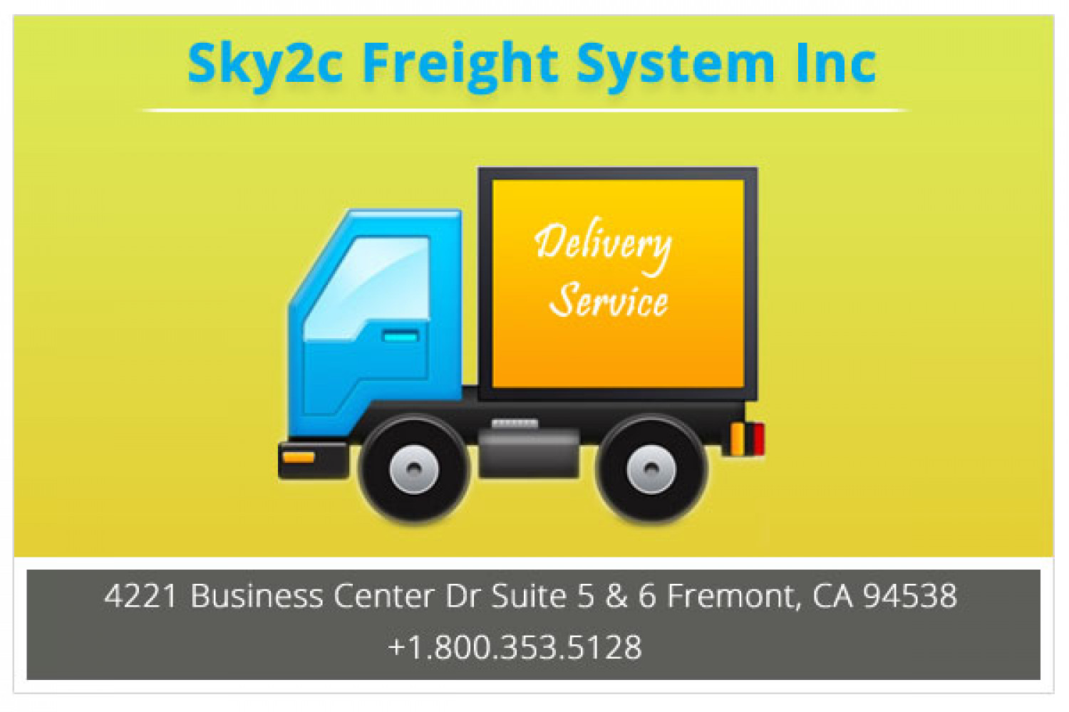 Commercial Cargo Delivery Service Infographic