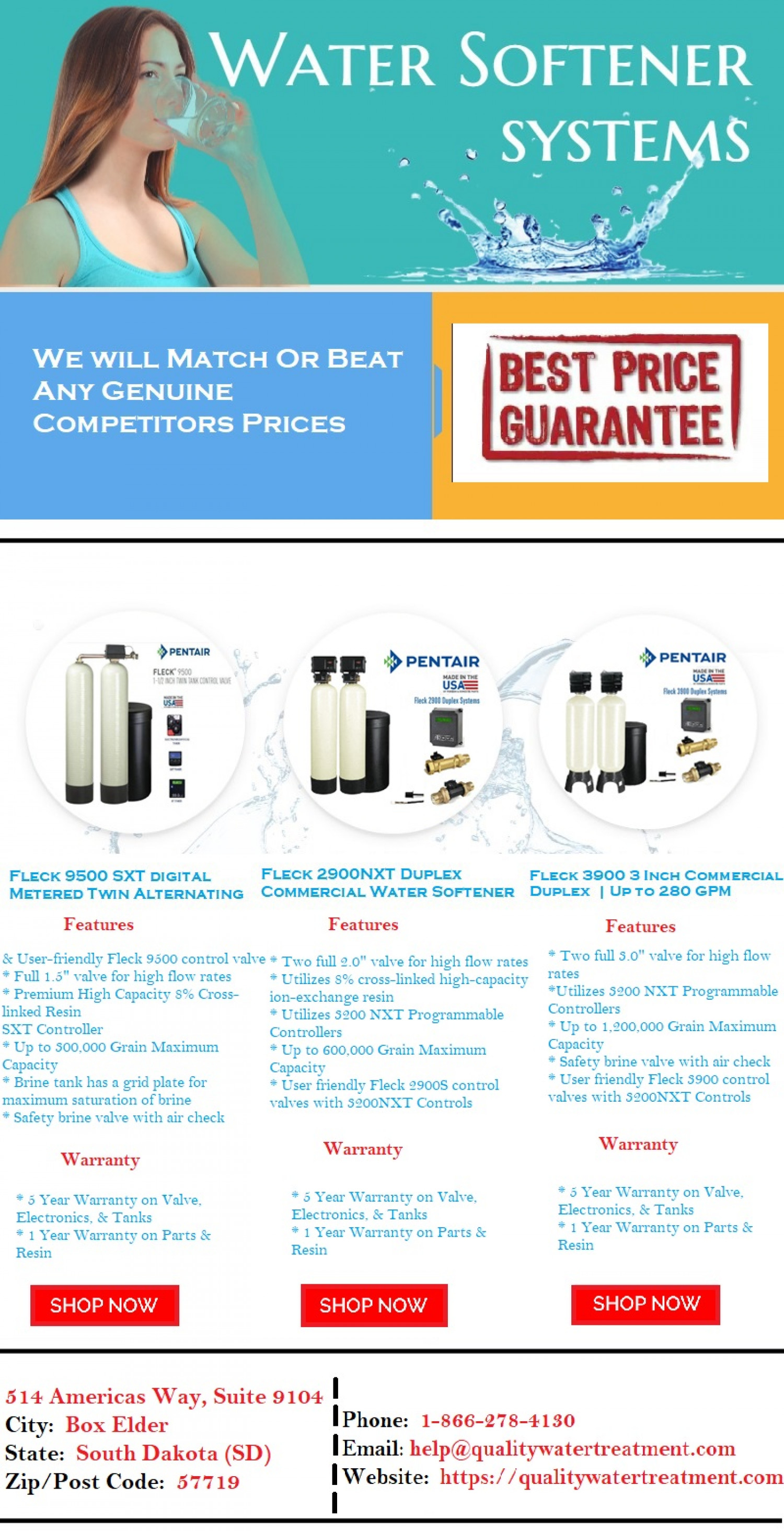 Commercial Water Softener System Infographic