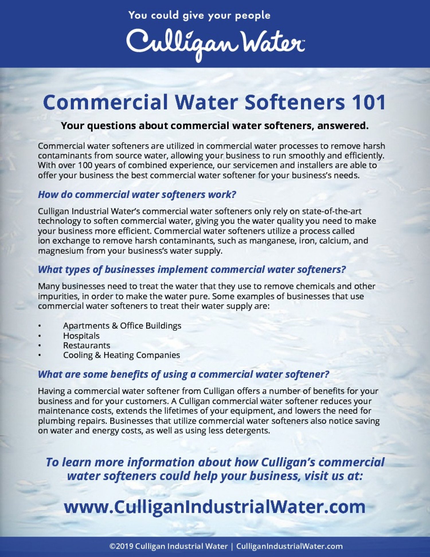 Commercial Water Softeners Infographic