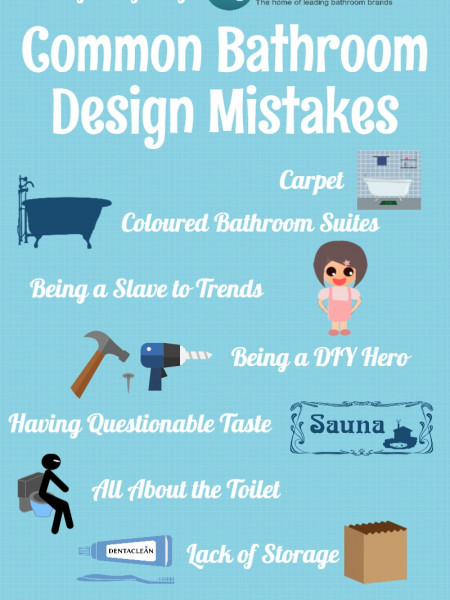 Common Bathroom Design Mistakes Infographic
