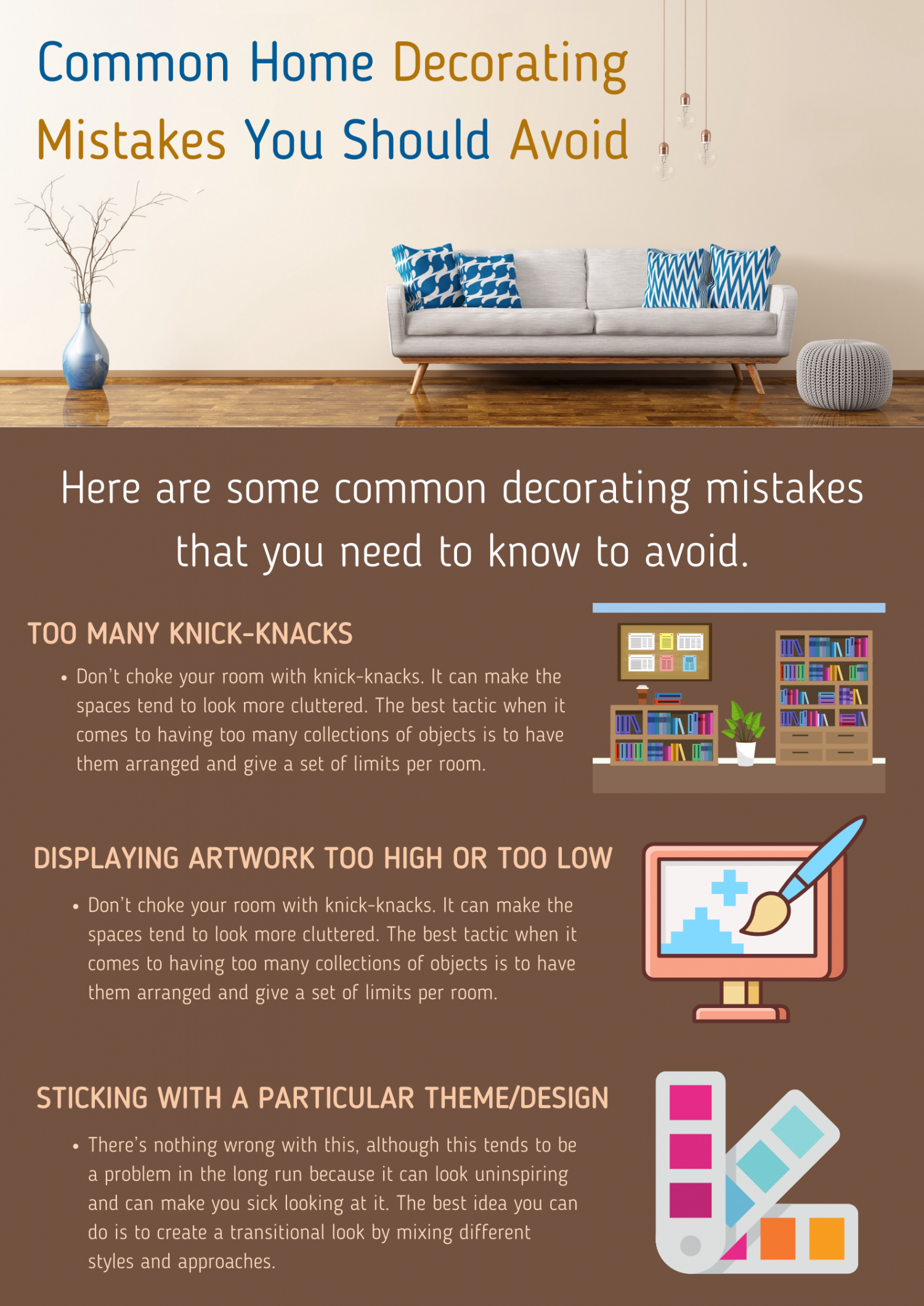 Common Home Decorating Mistakes You Should Avoid Infographic