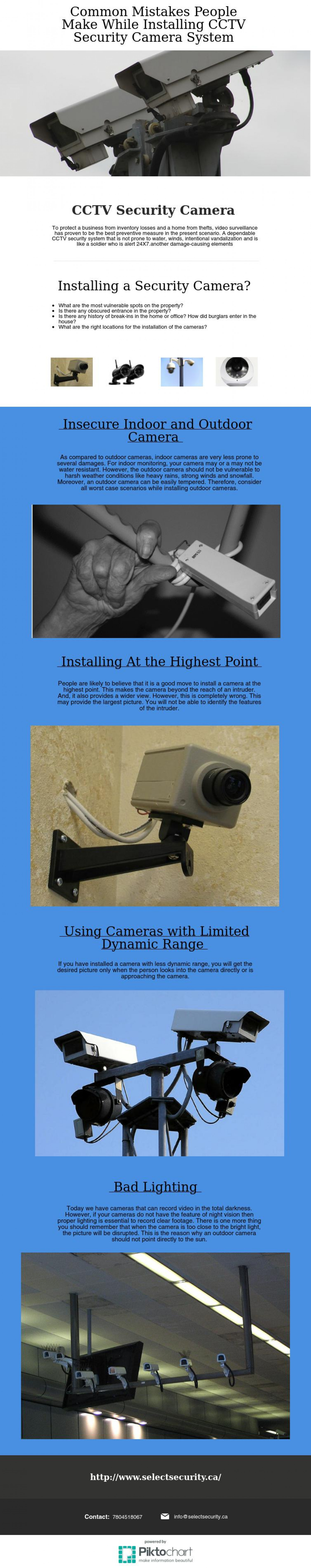 Common Mistakes People Make While Installing CCTV Security Camera System Infographic