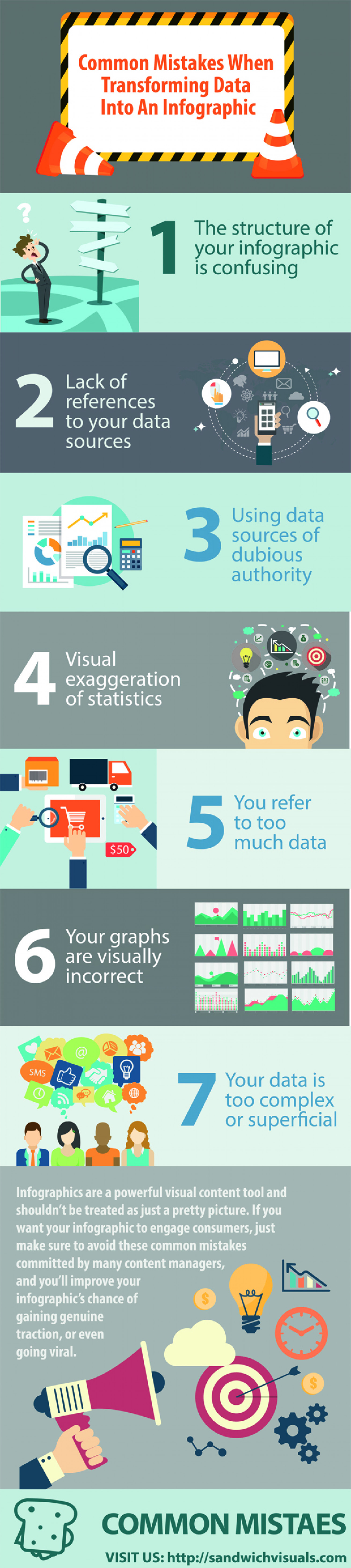 Common Mistakes When Transforming Data Into An Infographic Infographic