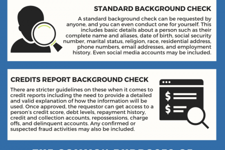 Common Types of Background Checks and What They Are Used For Kiwi Searches Infographic