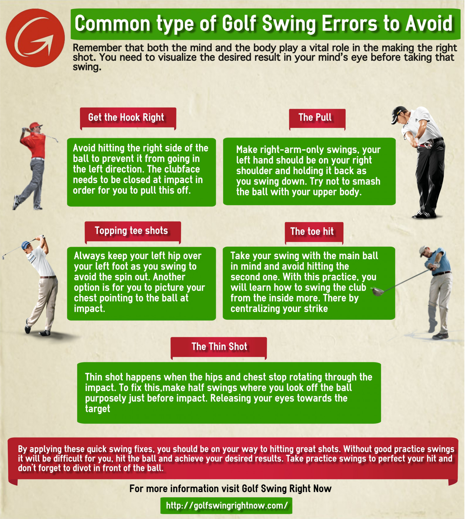 Common Types of Golf Swing Errors to Avoid Infographic