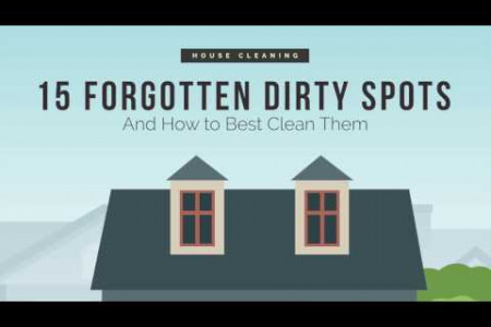 Commonly Ignored Spots to Clean in a Home Infographic