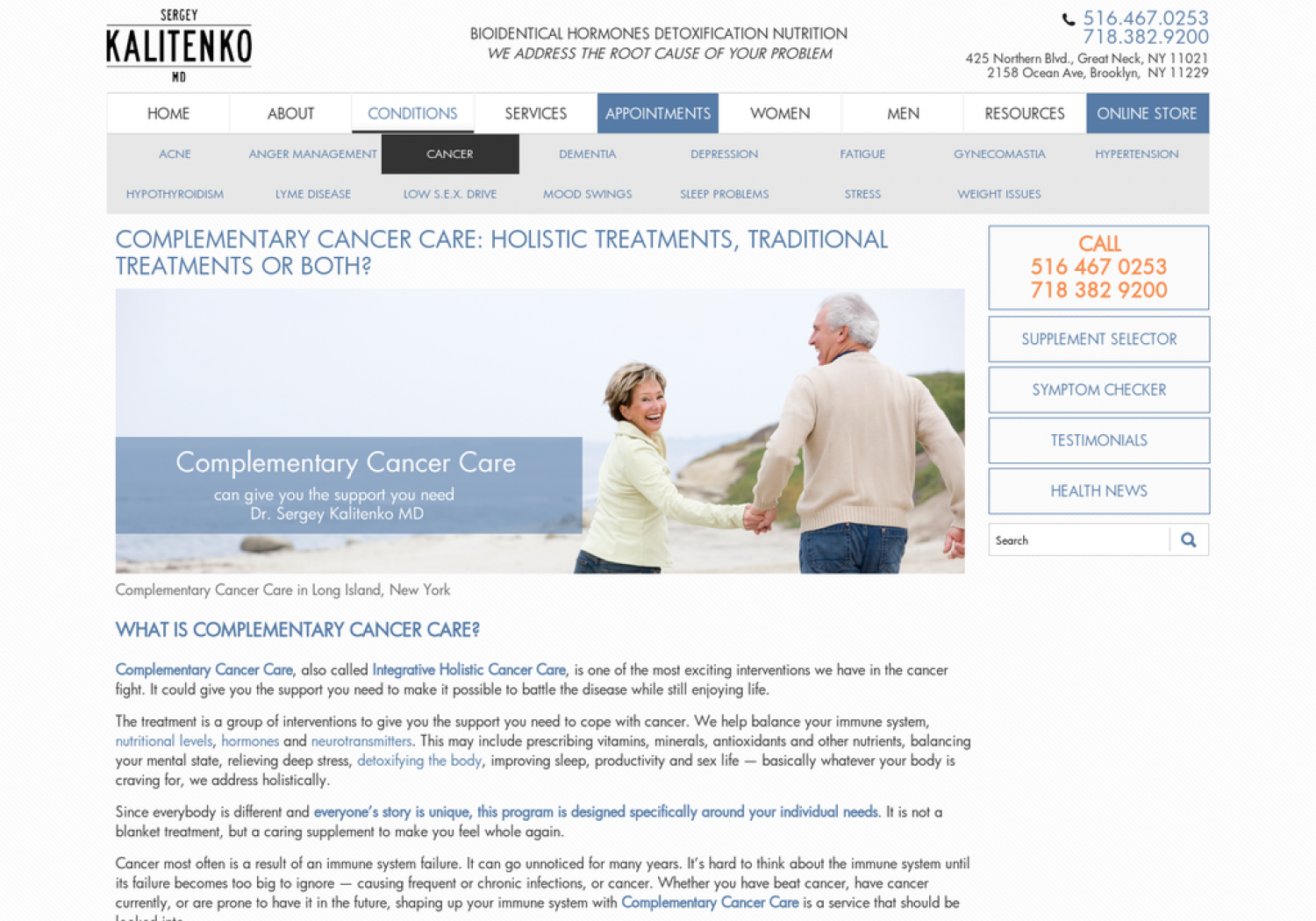 Complementary cancer care, cancer treatments, medicine, long island, new york Infographic