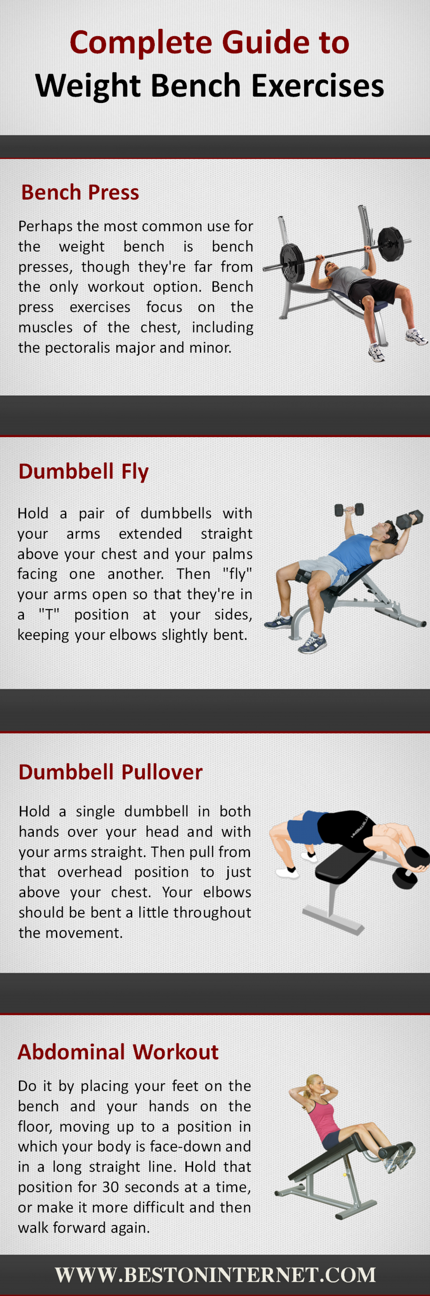 Complete Guide to Weight Bench Exercises Infographic
