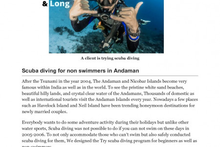 Complete overview of conducting  Scuba diving for beginners Infographic