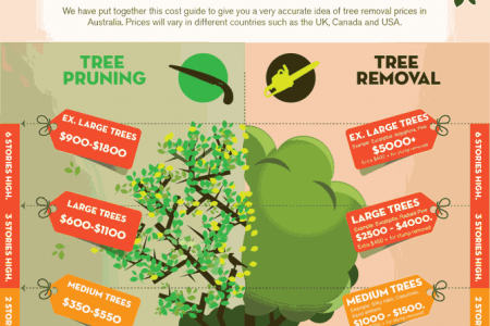 Complete tree Removal and pruning cost Guide by Treezy Infographic