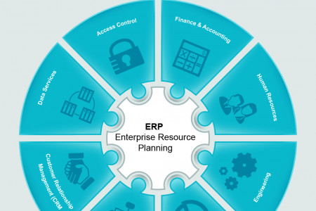 Components of Enterprise Resource Planning Infographic