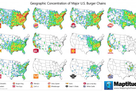 Concentration of Top U.S. Burger Chains Infographic