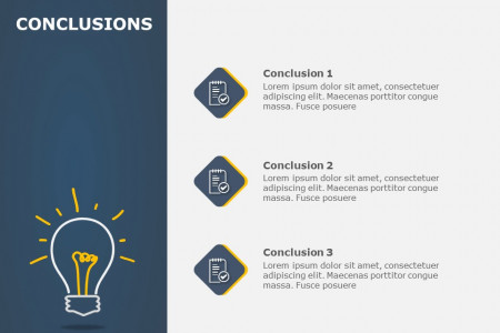 Conclusion Slides Infographic