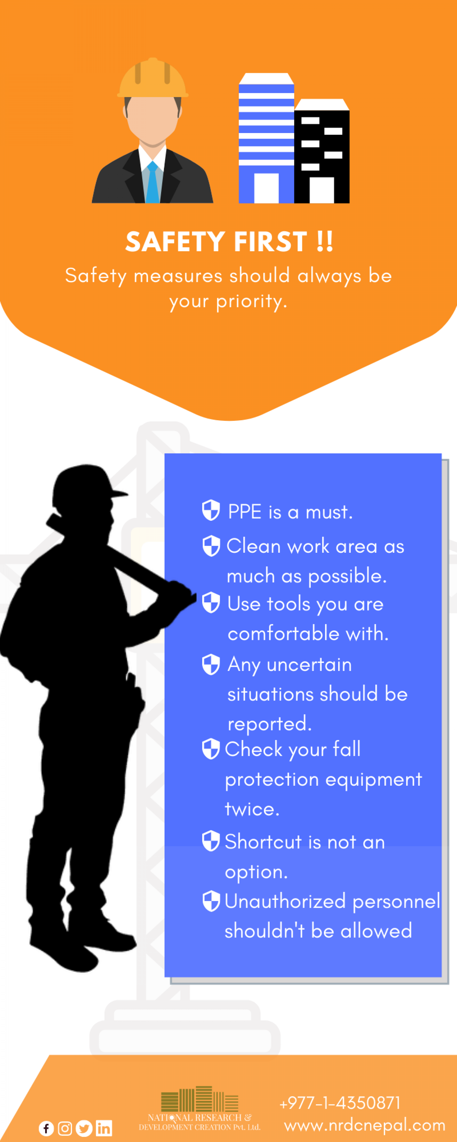 Construction Safety Measures - NRDC Nepal  Infographic