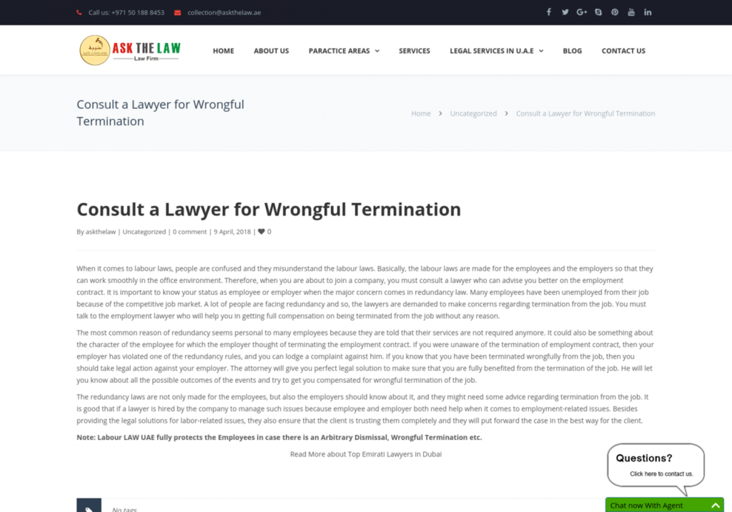 Consult a Lawyer for Wrongful Termination Infographic