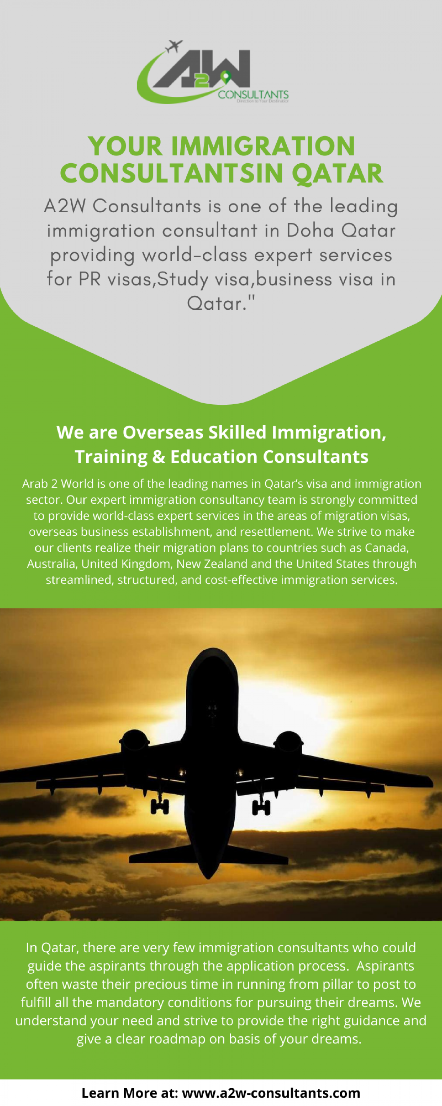 Consultancy for Canada immigration Infographic