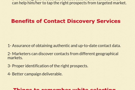 Contact Discovery Service | Demand Generation | saleglue  Infographic