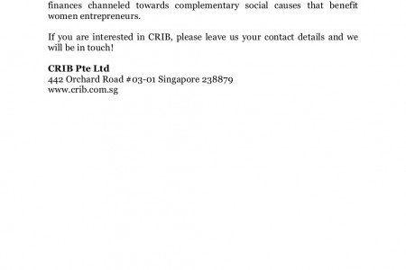 Contact Information of CRIB Advisors Mentors Singapore, Women networking Singapore Infographic