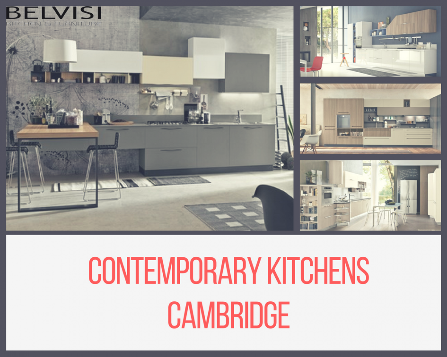 Contemporary kitchens Cambridge Infographic
