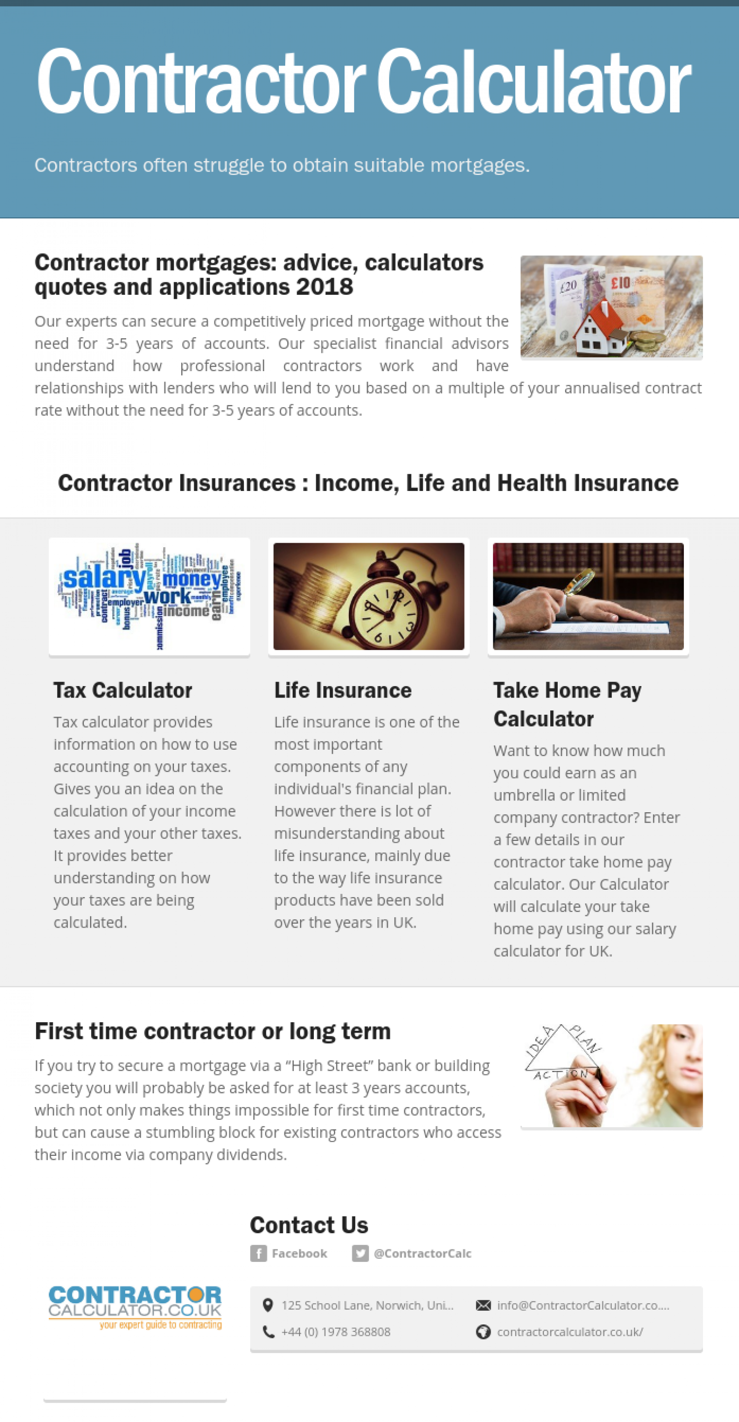 Contractor Mortgages Made Easy Infographic