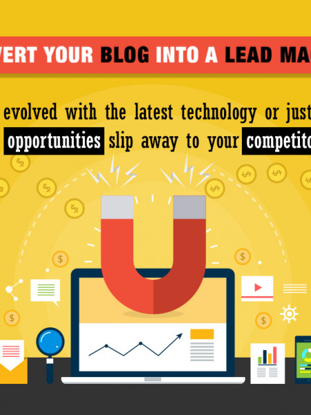 Convert Your Blog Into A Lead Magnet Infographic