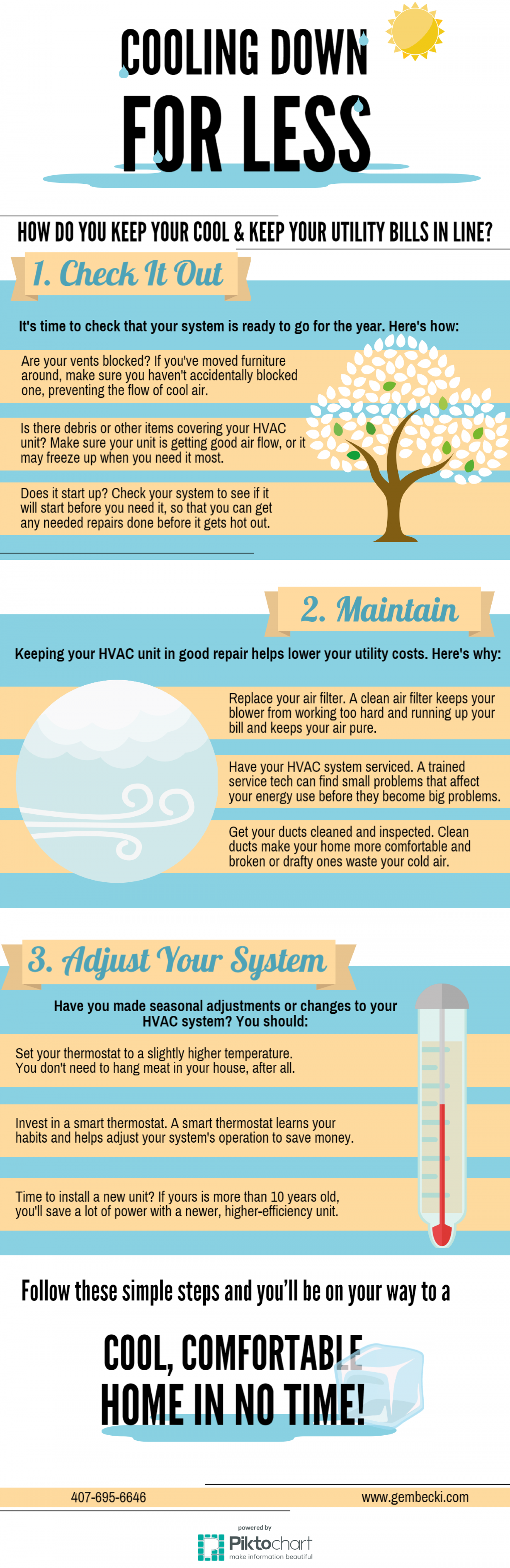 Cooling Down For Less Infographic