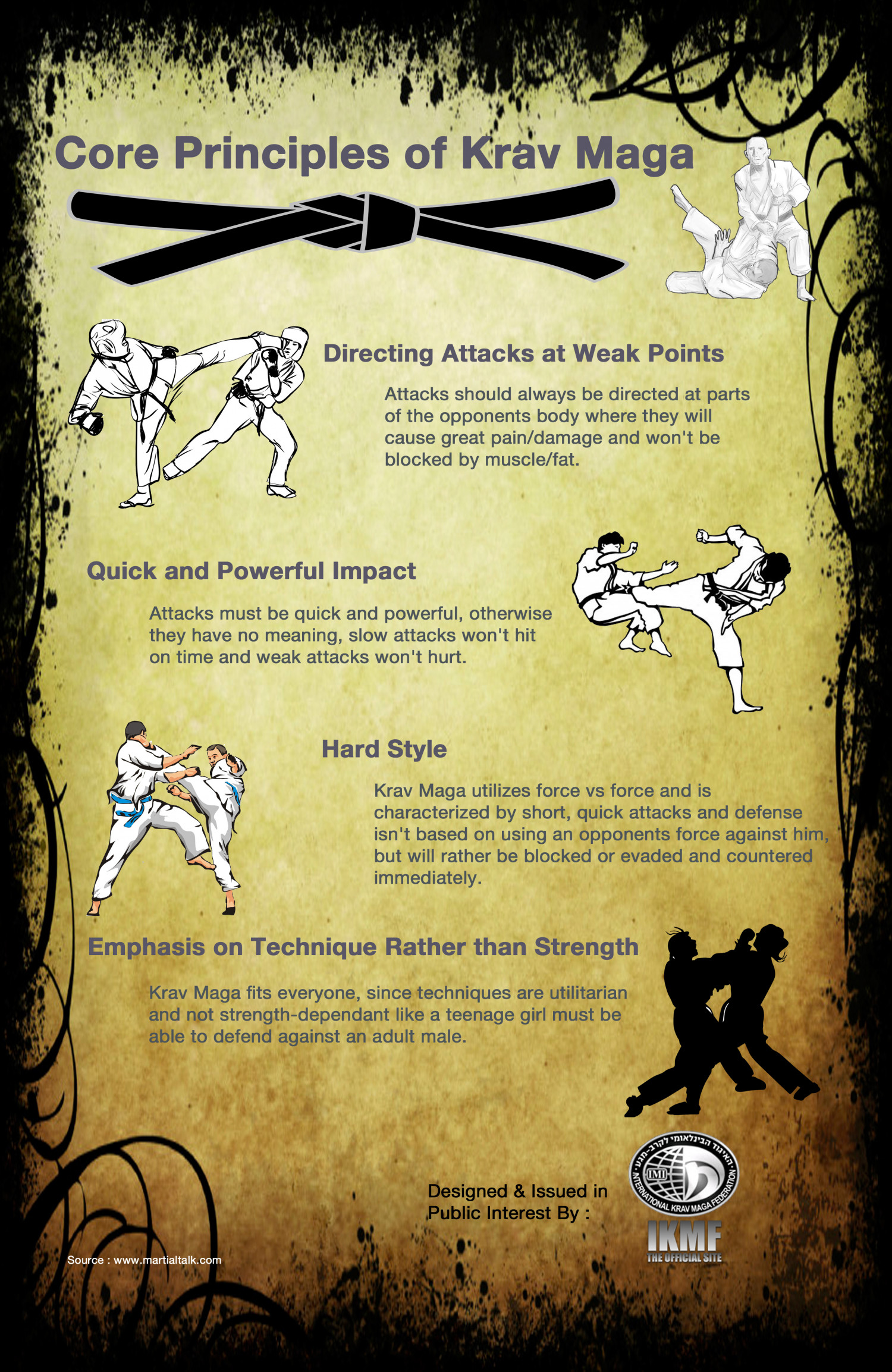 Core Principles of Krav Maga Infographic