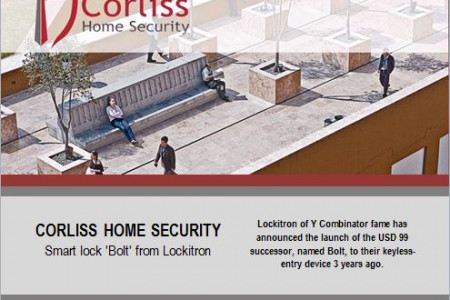 Corliss Home Security: Smart lock 'Bolt' from Lockitron Infographic