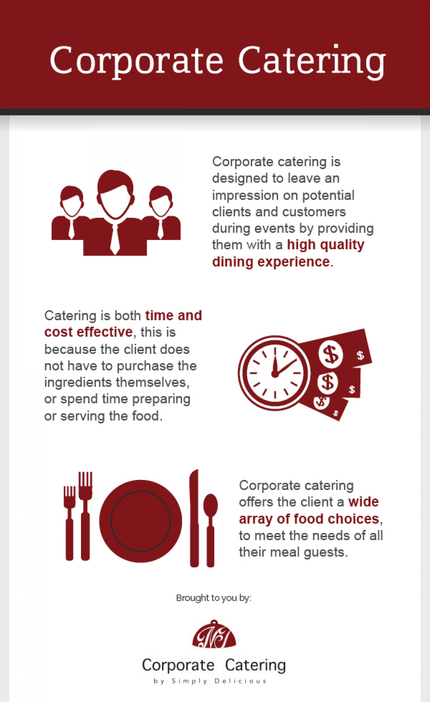 Corporate Catering Infographic