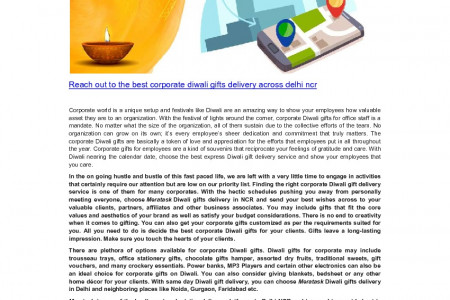 Corporate diwali gifts delivery across delhi ncr Infographic