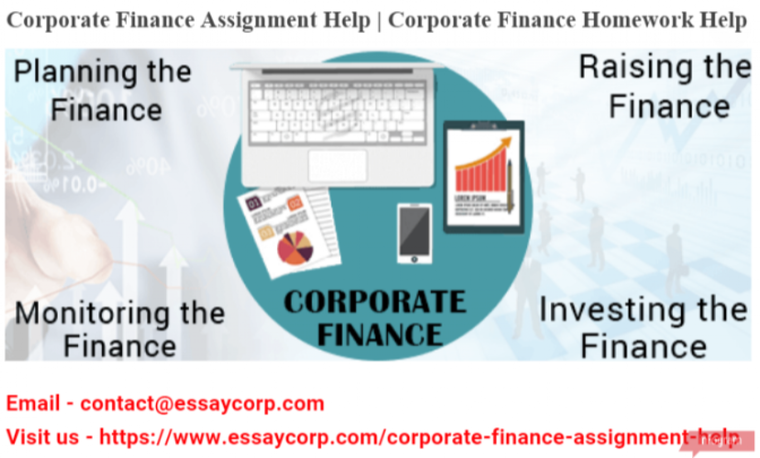 Corporate Finance Assignment Help | Corporate Finance Homework Help Infographic