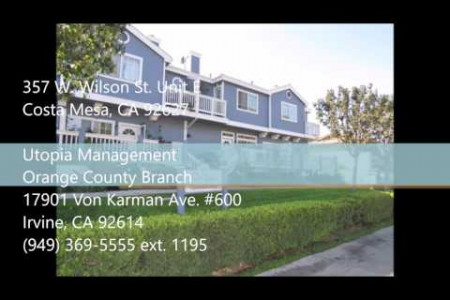 Costa Mesa Property Management - 357 W. Wilson St. Unit E, Costa Mesa CA 92627 Infographic